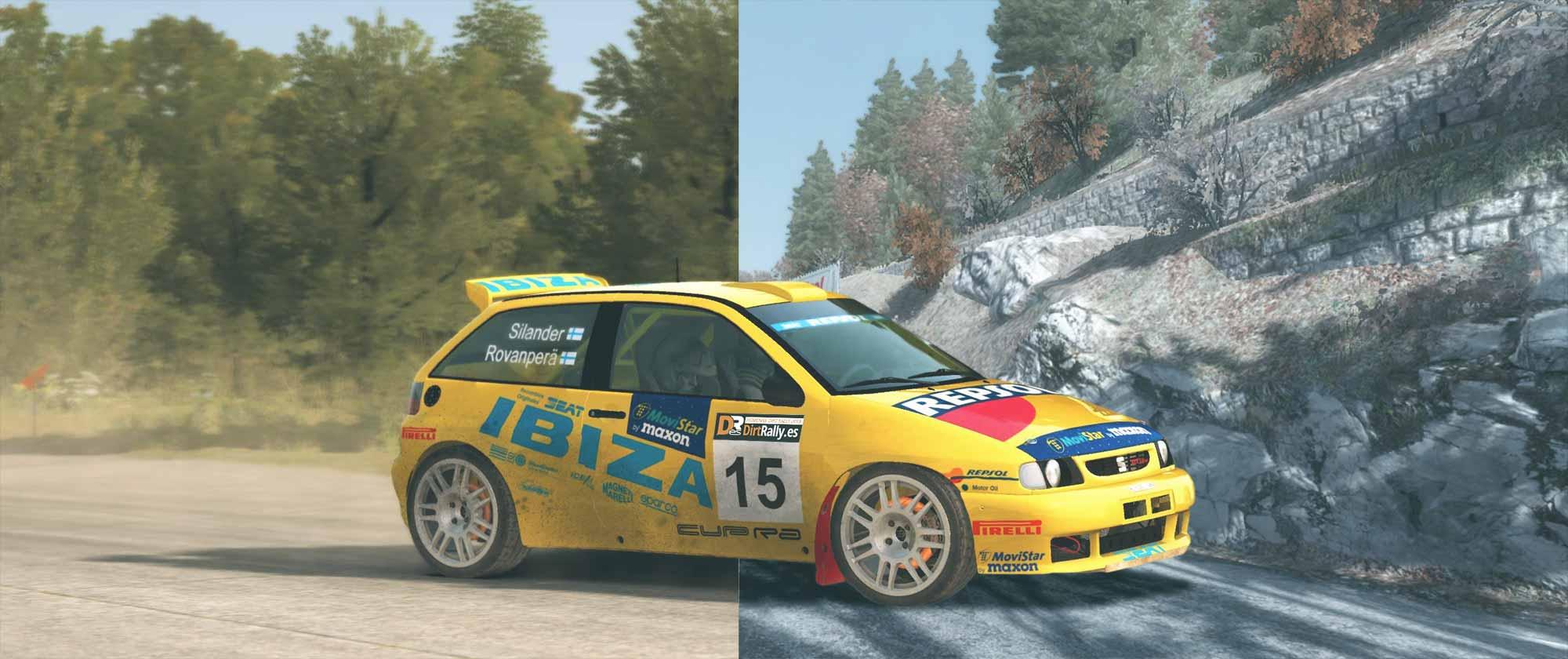 homenaje dirt rally con kit car seat ibiza