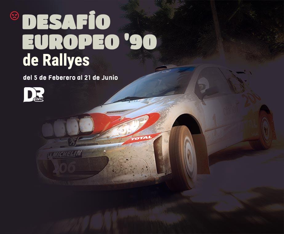 desafio europeo '90 de rallyes dirt rally 2.0