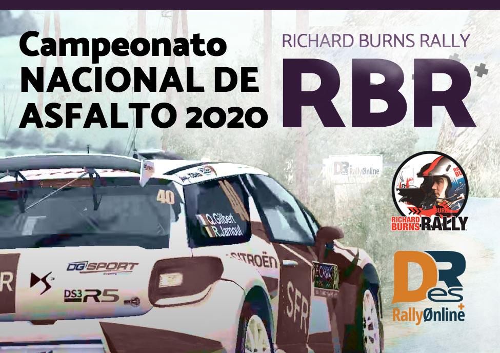 presentacion campeonato nacional de asfalto 2020 con Richard Burns Rally RBR